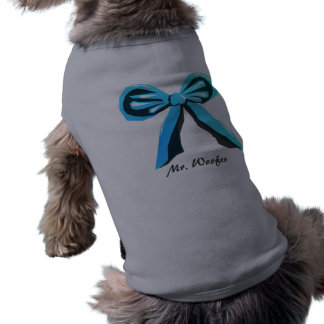 Custom gift bow dog shirt- your dog's name here