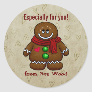Custom Gingerbread Gift Tag Stickers