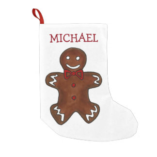 Custom Gingerbread Man Christmas Cookie Stocking
