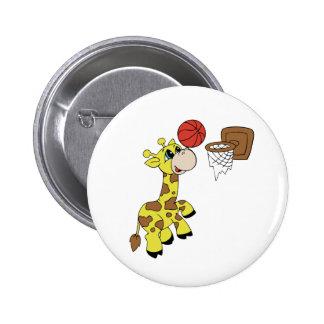 CUSTOM GIRAFFE BASKETBALL Button