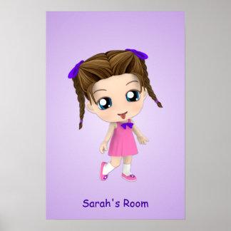 Custom Girls Room Chibi Poster
