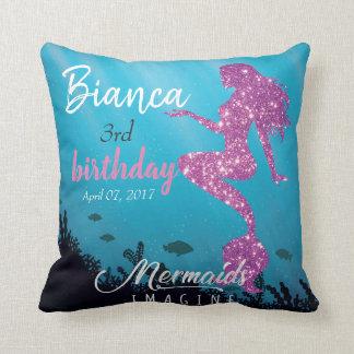 Custom Glittery Mermaid Backdrop Tapestry With Pho Cushion