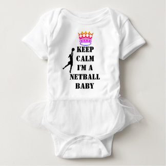 Custom Goal Shooter Keep Calm Netball Baby Bodysuit