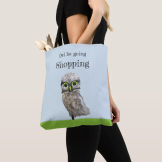 Custom Gold and Silver Burrowing Owl Tote Bag