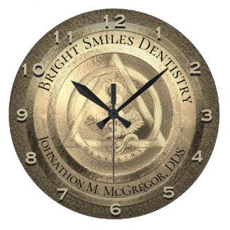 Custom Gold Dentist Clock