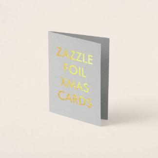 Custom Gold Foil Christmas Card