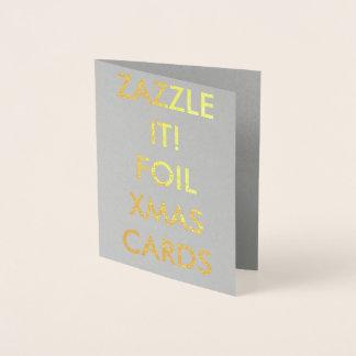 Custom Gold Foil Christmas Card Blank Template