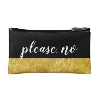 custom gold foil glamorous modern makeup cosmetic bag