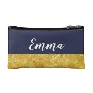 custom gold foil glamorous modern makeup makeup bag