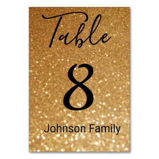 custom, gold glitter background card
