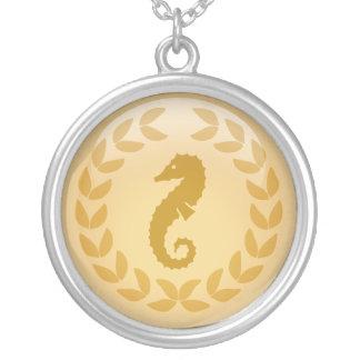 Custom Gold Laurel symbol necklace