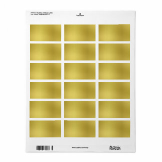 Custom Gold Metallic Look Template Background Address Label
