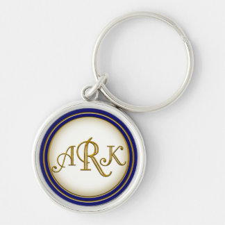 Custom Gold Monogram keychain Armin