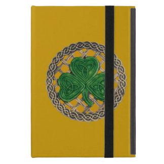 Custom Gold Shamrock On Celtic Knot iPad Mini Case