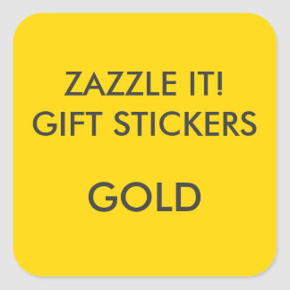 Custom GOLD SQUARE Large Gift Stickers Blank