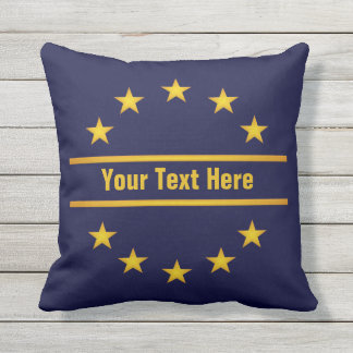 CUSTOM GOLDEN STARS throw pillow