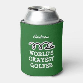 Custom golf can cooler for world's okayest golfer