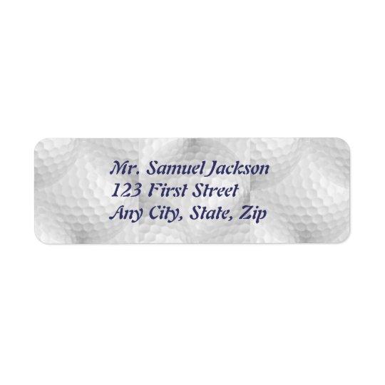 Custom Golf Design for Sport Enthusiast Return Address Label