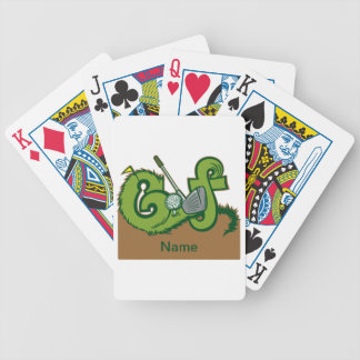Custom Golf Graphic Bicycle Playing Cards