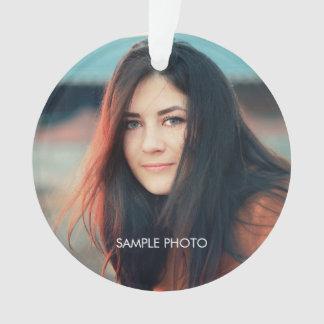 Custom Graduate Photo Holiday Ornament