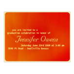 Custom Graduation Invitation : Orange Crush Post Card