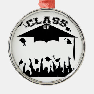 Custom Graduation Silver-Colored Round Decoration