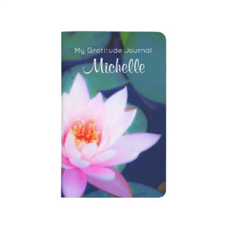 Custom Gratitude with Pink Water Lily Journal