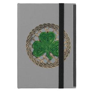 Custom Gray Shamrock On Celtic Knot iPad Mini Case