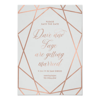 Custom Gray Wedding Invite for Dave and Faye