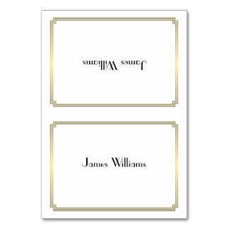Custom Great Gatsby Art Deco Gold Place Cards Table Card