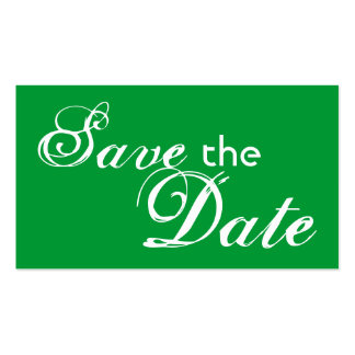 Custom green back save the date wedding cards business card templates