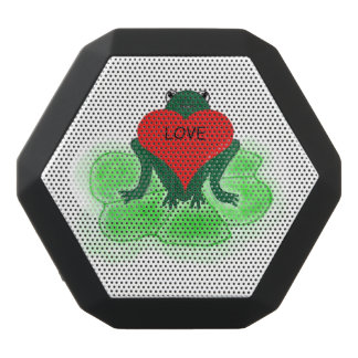 Custom Green Frog with Heart on Lily Pad