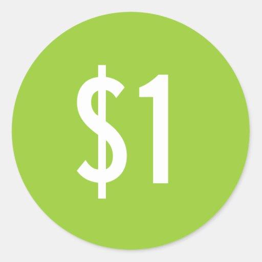 Custom Green Price Sticker