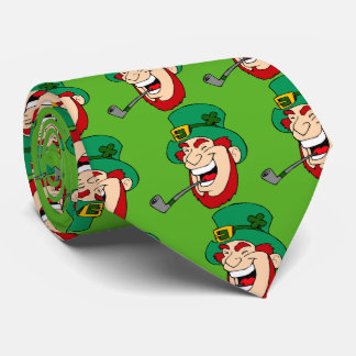 Custom Green Saint Patrick's Day Leprechaun Tie