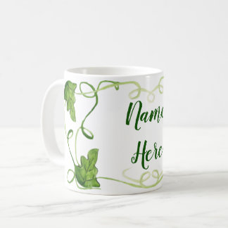Custom Green Vines Mug