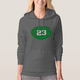 Custom Green Volleyball Hoodie Sweatshirt