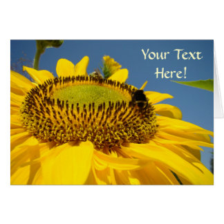 Custom Greeting Cards SunFlower Your text here