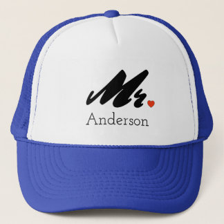 Custom Grooms Mr. Trucker Hat Cap