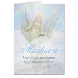 Custom Guardian Angel Card