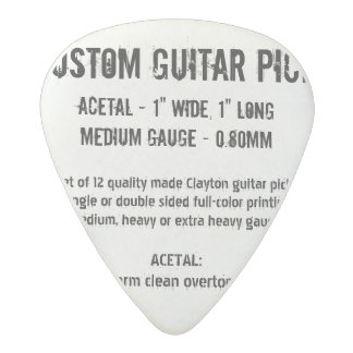 Custom Guitar Pick - Acetal, Medium Gauge 0.80mm