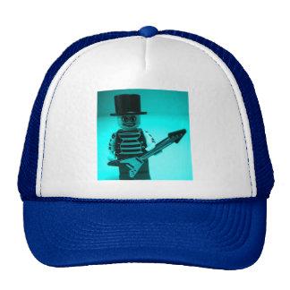 Custom Guitarist Minifigure with Guitar Mesh Hats