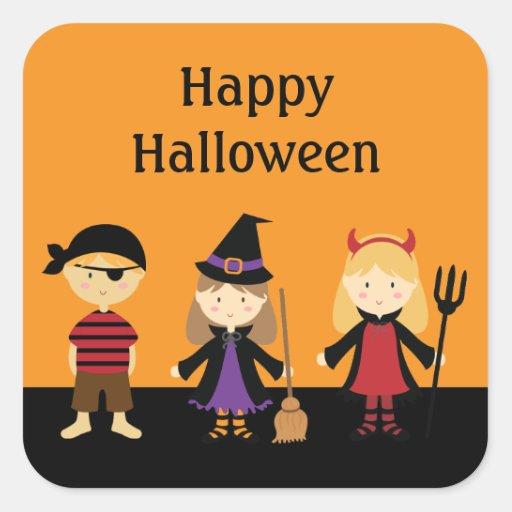 Custom Halloween Kids Costume Stickers