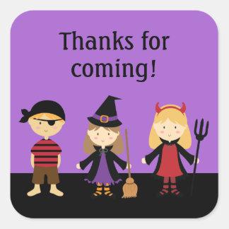 Custom Halloween Kids Thank You Stickers