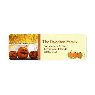 Custom Halloween Pumpkin Return Address Labels