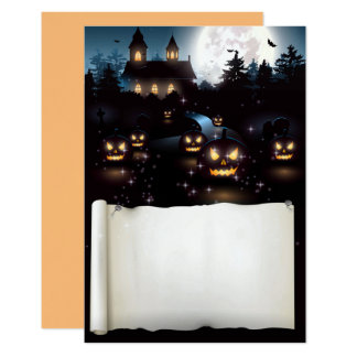 Custom Halloween Spooky Night 9 Cm X 13 Cm Invitation Card