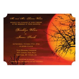 Custom Halloween Wedding Invites Night Ticket