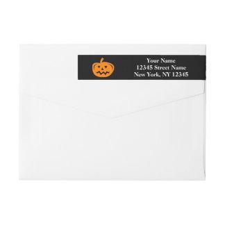 Custom Halloween wraparound return address labels Wraparound Return Address Label