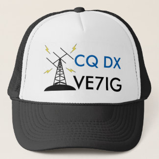 Custom Ham Radio Callsign Hat for Amateur Radio