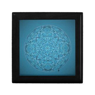 Custom hand drawn blue mandala gift box