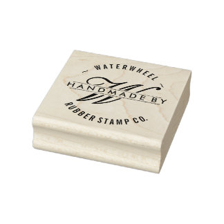 """Custom """"Handmade By"""" with Monogram Rubber Stamp"""